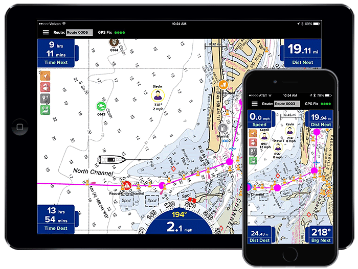 Miratrex complete ipad and iphone marine navigation